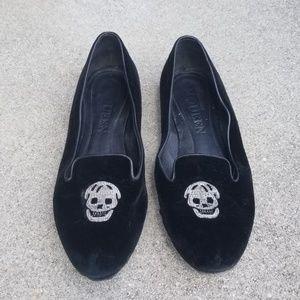 Authentic Alexander McQueen Black Skull Flats US9